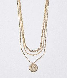 Loft Layered Charm Necklace#affilink