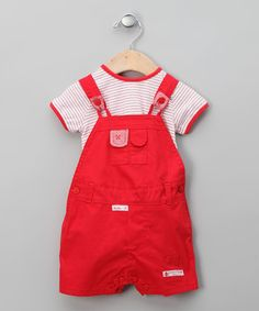 Take a look at this Rojo Cayenne Tee & Shortalls - Infant by dudu on #zulily today!