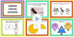Key Stage 1 Morning Starter Activities Powerpoint - KS2, starters