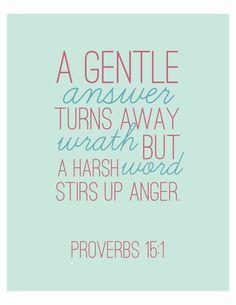 Bible Verse Art Proverbs 15:1 Wall Art Home by IekelRoadDesign