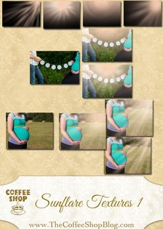 FREE CoffeeShop SunFlare Texture Set 1!!!  Including this in the Actions just because it has the most followers and the Coffeeshop Blog is SO awesome!!