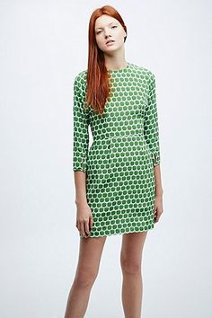 Peter Jensen Demi Apple Print Dress in Green - Urban Outfitters