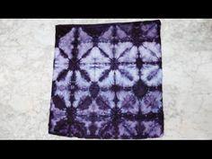 Shibori folding tutorial - YouTube