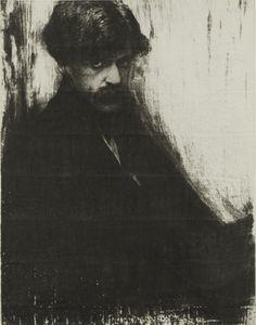 Gertrude Kasebier, Alfred Stieglitz , 1902, gum bichromate print