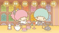 Little Twin Stars Wallpaper 2019 十一月桌布 日本官方Twitter茶館版 Little Twin Stars, Sanrio, Star Cloud, Star Wallpaper, Tea Party, Cute Pictures, Hello Kitty, Twins, Old Things