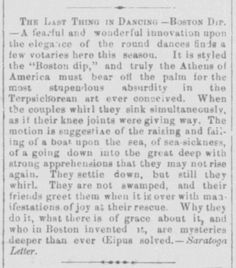 "1870 Boston Dip uses deep knee bend and ""rise and fall"" like a ship upon the ocean"
