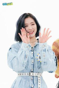 Photo album containing 21 pictures of Ryujin South Korean Girls, Korean Girl Groups, Weekly Idol, New Girl, Blue Hair, Role Models, Kpop Girls, Rapper, Short Hair Styles