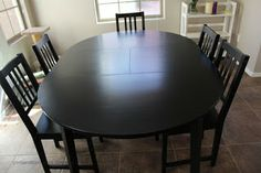 Tips on re-finishing laminate tables from IKEA