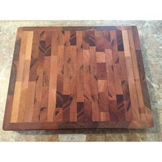 Handmade Spalted Red Oak Bordered in Maple End Grain Wood Cutting... (€68) ❤ liked on Polyvore featuring home, kitchen & dining, kitchen gadgets & tools, wood butcher block, wooden chopping board, maple butcher block, wood cutting boards and maple wood cutting board