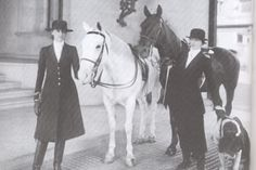 A rare image of Edith and Cornelia #Vanderbilt (plus their beloved Saint Bernard) in #Biltmore House's stables. www.biltmore.com #history #horses