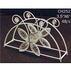Decorative White Butterfly Napkin Holder Wedding Centerpiece DIY Home Metal Wire | eBay