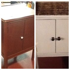 Cabinet re-do from dumpster find