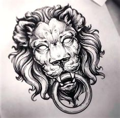Awesome lion face knocker.