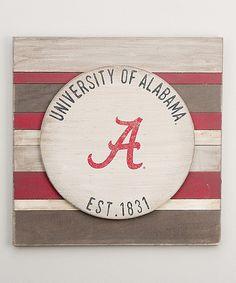 Look at this #zulilyfind! Alabama Crimson Tide Vintage-Inspired  Wall Sign by Glory Haus #zulilyfinds