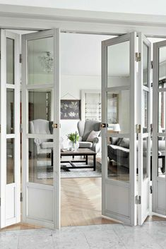 Your Very Own Personal DIY Home Decor Guide Your Very Own Personal DIY Home Decor Guide Katelin Addison KatelinAddison Bifold doors Home Interior Design Improve The Look nbsp hellip Divider ideas doors Door Design, House Design, Design Design, Room Divider Doors, Hanging Room Dividers, Diy Casa, Metal Building Homes, Interior Barn Doors, Interior Folding Doors