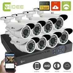 283.20$  Watch here - http://alieqc.worldwells.pw/go.php?t=32418640293 - CNHIDEE 8ch AHD 720p High Quality DVR System 1200TVL Indoor/Outdoor Camera System 1080N HDMI for Home Video Surveillance Kits -