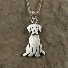 Tiny Labrador retriever necklace by StickManJewelry on Etsy