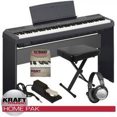 Yamaha P-115 Digital Piano - Black Home Pack $699
