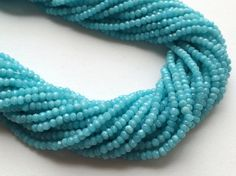WHOLESALE 5 Strands Aqua Agate Beads Aqua Agate by gemsforjewels