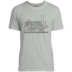 Big texas steam tram blueprint 34 sleeve raglan baseball t shirt mintage steam tram blueprint mens fine jersey t shirt silver malvernweather Choice Image