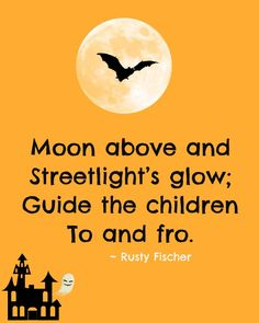 Streetlight's glow... A Halloween poem