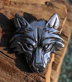VUK Wolf Pendant Sterling SILVER by WulflundJewelry