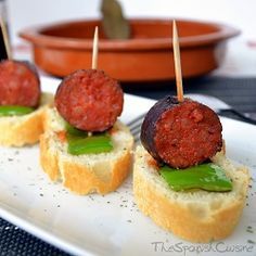 Spanish chorizo in red wine sauce! A yummy and easy Tapas recipe from Spain! - Spanish Food Recipes