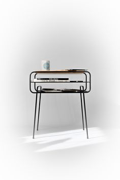 Double Nightstand Iron & wood series by Manuel Barrera