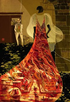 Mystery and Science Fiction by Victo Ngai, via Behance  Jack and Queen at the Green Mill, Tor SOI55 Book Show GOLD MEDAL