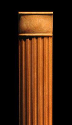 Column, Pilaster -Round Fluting w Squared Top