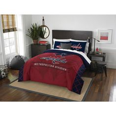 NHL 849 Capitals Draft /Queen 3-piece Comforter Set