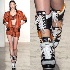 Jeremy Scott x Adidas Thigh-High Fashion Sneaker Boots Unique Fashion, High Fashion, Fashion Design, Gothic Fashion, Cyberpunk Mode, Cyberpunk Fashion, Sneakers Mode, Sneakers Fashion, Fashion Outfits