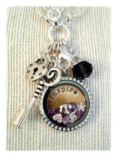 Inspire Locket | Origami Owl shop directly at elenas.origamiowl.com , i can generate samples and answer any questions you may have adoreandaspire@gmail.com