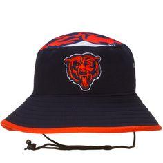 05b7b6bc01dfc Chicago Bears Navy and Orange Logo Topper Bucket Hat
