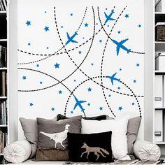 Mural de pared calcomanías avión etiqueta vivero por DecalHouse