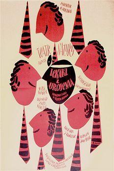 By Zbigniew Kaja, 1 9 5 7, Lekarz z urojenia, Theater poster.