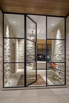 Creative Glass Door Ideas Designs For The Dynamic Modern Home Rehme Steel Windows & Doors Steel Windows, Windows And Doors, Doors With Glass Panels, Glass Panel Wall, Iron Windows, Bay Windows, Window Glass, Design Exterior, Interior And Exterior