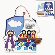 matthew 28:19-20 crafts for kids | Amazon.com: Jesus Walking On Water Craft Kit - Religious Crafts ...