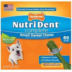 Nylabone Nutri Dent Complete Dental Chew for Dogs 24 oz Small Chicken Pack of 50 chews For Dogs up to 15 lbs >>> Check this awesome product by going to the link at the image.