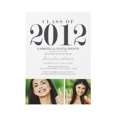 5 x 7 Class Of 2012 | Graduation Party Inv...