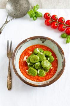 haseimglueck.de Rezept, Basilikum-Gnocchi-mit-Tomaten-Mozarella-Sauce 1