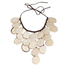 Eco-Friendly Caprichosa Necklace in Ivory - Hugssy.com