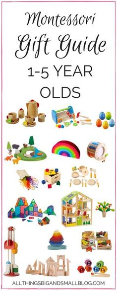 Montessori Gift Guide | Montessori Toys for 1 to 4 year olds | Beautiful toys for kids from All Things Big and Small
