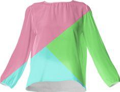 Retro Bubblegum Silk Top - Available Here: http://printallover.me/products/0000000p-retro-bubblegum-8