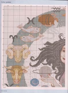 Borduurpatroon Sterrenbeeld Kruissteek *X-Stitch Pattern Zodiac ~Zodiac Design 2/5~