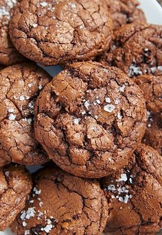 These salted chocolate rye cookies are decadent. Soft and chewy, with the texture of chocolate ganache. Someone told me they were better than sex. Quite a compliment, don't you think?