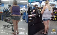 Double Stuffed Jean Shorts at Walmart - more like whos hiding the ELEPHANT. Funny Pictures at Walmart