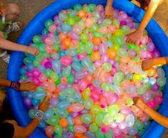Kids party idea!!! Water balloon fight :)  pfffft, this would be fun for adults too!