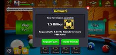 Get 8 ball pool reward for free and get 8 ball pool free coins.We share real 8 ball pool free coins links and 8 ball pool rewards links. Daily Rewards, Free Rewards, Miniclip Pool, Pool Coins, Thanks Note, Friend Challenges, Pool Hacks, Play 1, Free Gems