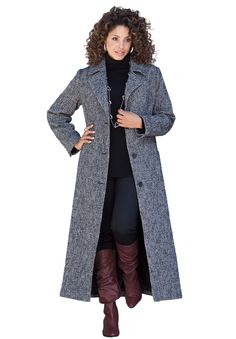 fc4c124770f56 Plus Size Clothing - Fashion for Plus Size women at Roaman s Long Wool Coat